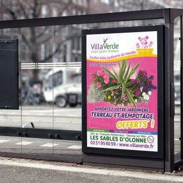 Grand format affiche Villa Verde